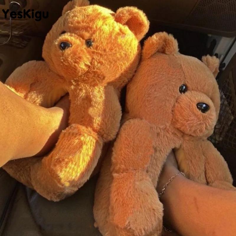 Teddy Bear Plush Slippers Women Men Winter Warm Cartoon Cute Bear House Slipper Soft Furry Faux Fur Slides Couples HomeShoes 1