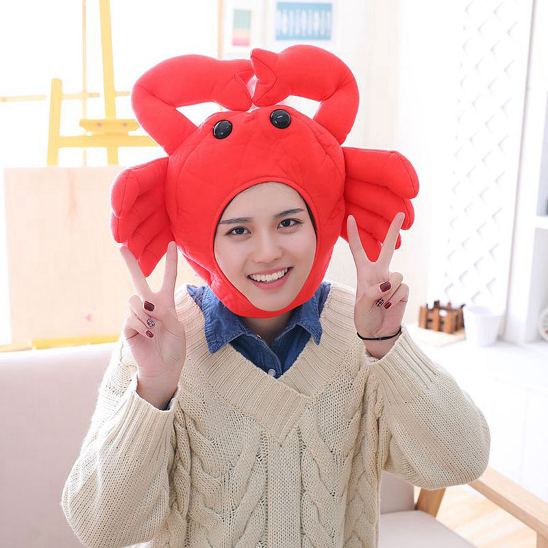 Funny Crab Hat Red Anime Cartoon Party Prop Unisex 1