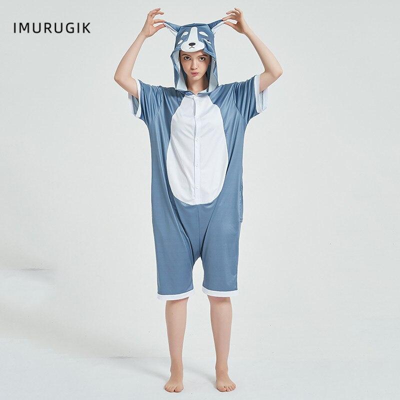 Halloween Costumes Kigurumis Onesie Jumpsuits Husky cosplay Adult Costume Animal Home wear Pajama Funny Cute OneisesCarnival 2
