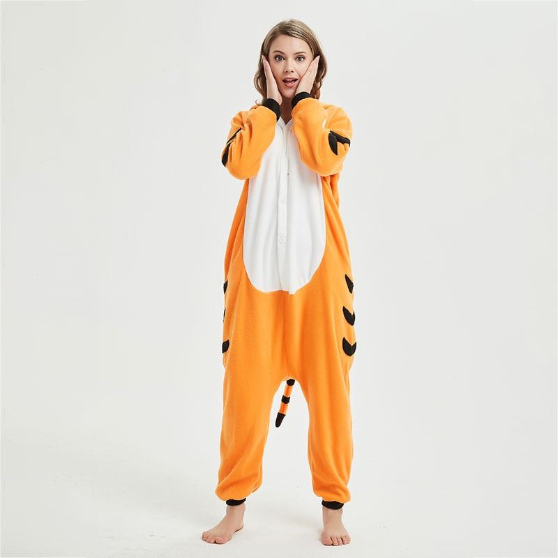 Bengal Tiger Kigurumis Onesie Animal Funny Jumpsuit Adult Women Men Home Wear Winter Outfit Sleepsuit Overall Halloween Pajama 1