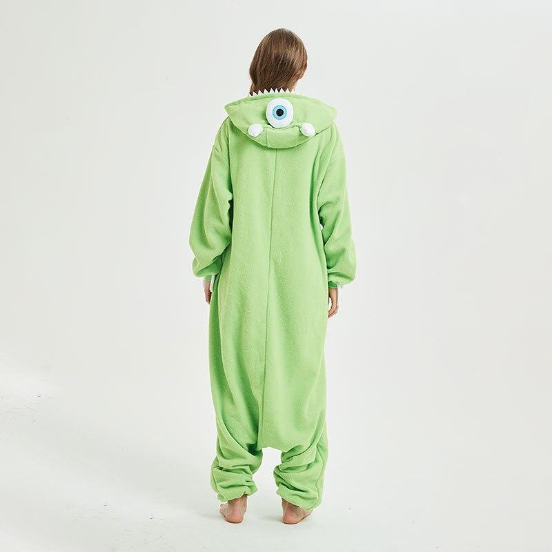 Animal Pajamas Women Men Onesie Anime One Eye Monster Kigurumis Funny Jumpsuit Sleepwear Unisex Adult Winter Festival Pyjamas 2
