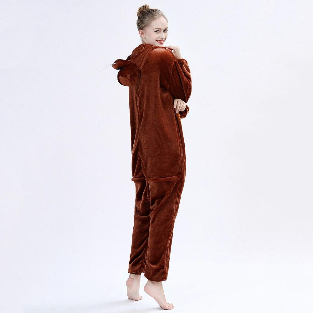 New Animals Adult Kigurumis Onesie Sleepwear Cartoon Walrus Onesies Flannel Nightgown Women Pajamas Jumpsuit Homewear Costume 3