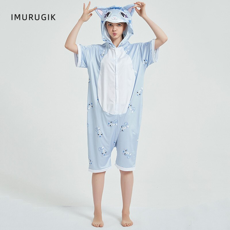 Cosplay Costumes Kigurumis Onesie Jumpsuits Cat Adult Costume Animal Home wear Pajama Funny Cute Oneises Halloween Carnival 1