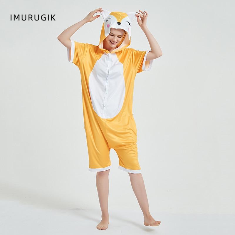 Halloween Costumes Kigurumis Onesie Jumpsuits Fox Cosplay Adult Costume Animal Home wear Pajama Funny Cute OneisesCarnival 1
