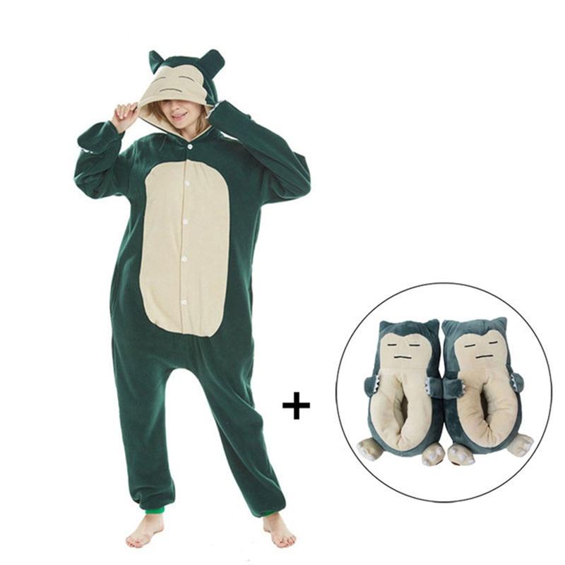Snorlax kigurumis Women Onesie Pajama Men Adult Polar Fleece Homewear Funny Cosplay Costume One Piece Pyjamas Sleepwear 1