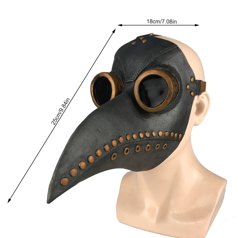 Funny Medieval Steampunk Plague Doctor Bird Mask Latex Punk Cosplay Masks Beak Adult Halloween Event Cosplay Props RB 3