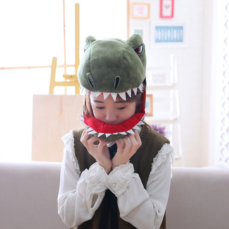 Dinosaur Hat Funny Cool Style Cartoon Anime Headwear Animal Cosplay Party Prop Unisex Green / Pink / Yellow 3