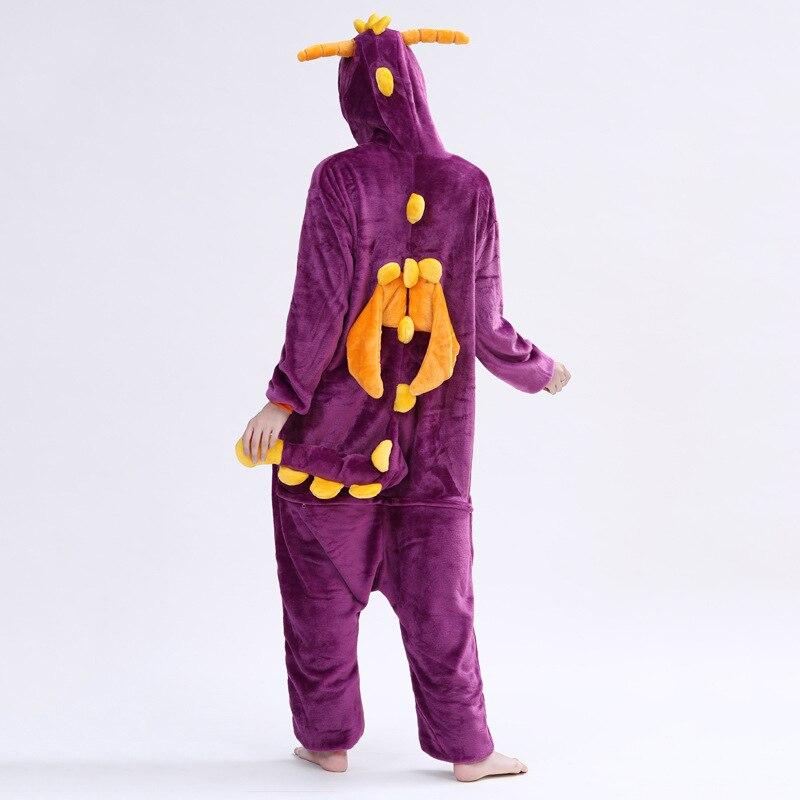 Spyro Dragon Onesie Anime Cartoon Kigurumis Purple Animal Pajama Women Men Adult Funny Suit Winter Warm Cute Sleepwear Jumpsuit 2