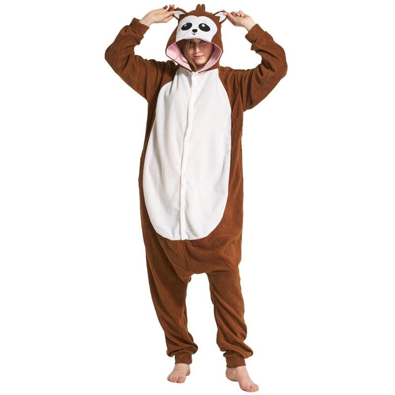 Monkey Women Onesie Pajama Adult kigurumis Sleepwear Funny Festival Long sleeve warm Cosplay Party Jumpsuit Unisex Costume 1