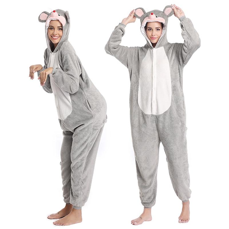 Kigurumis Women Pajamas Animal Mouse Onesies Homewear Carnival Clothing One Piece Sleepwear Pajama Suit Sleepwear 1