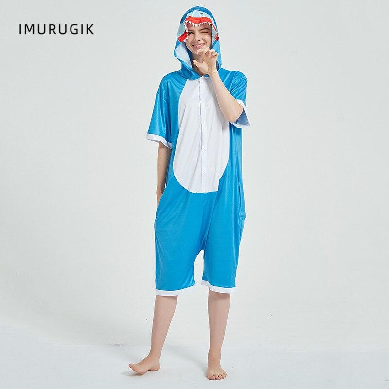 Cosplay Costumes Kigurumis Onesie Jumpsuits Shark Adult Costume Animal Home wear Pajama Funny Cute Oneises Halloween Carnival 4