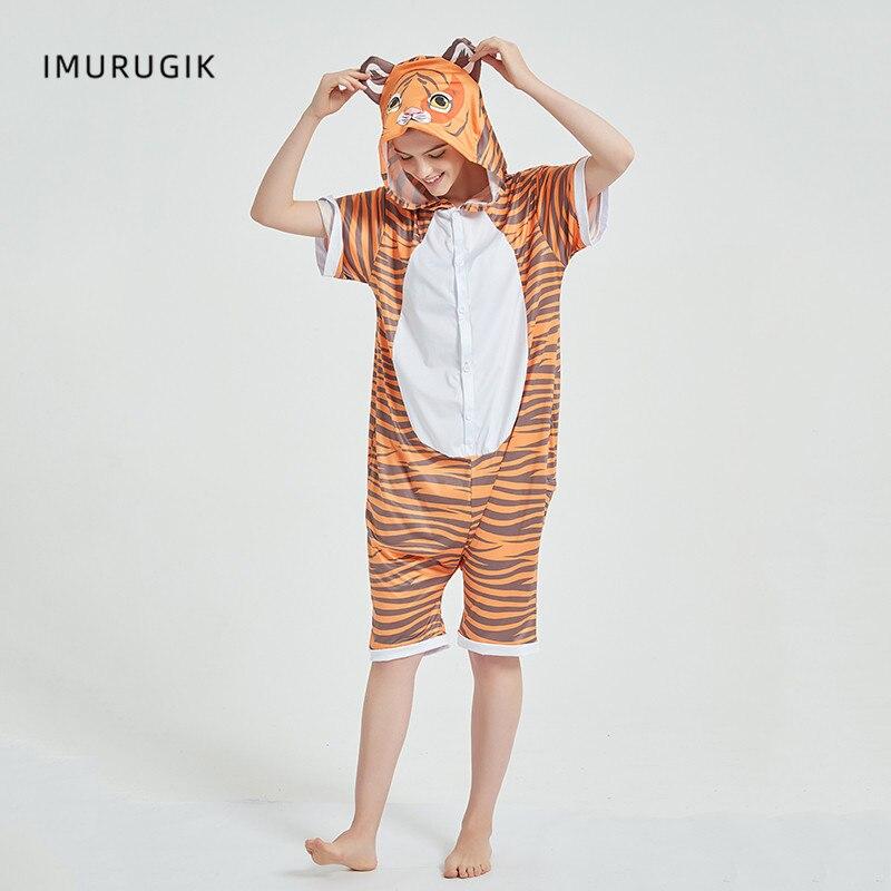 Cosplay Costumes Kigurumis Onesie Jumpsuits Tiger Adult Costume Animal Home wear Pajama Funny Cute Oneises Halloween Carnival 3