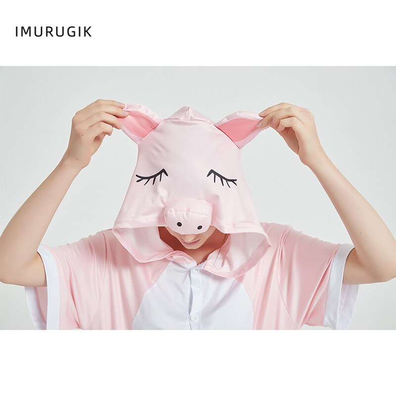 Halloween Costumes Kigurumis Onesie Jumpsuits Pink Pig cosplay Adult Costume Animal Home wear Pajama Funny Cute OneisesCarnival 6