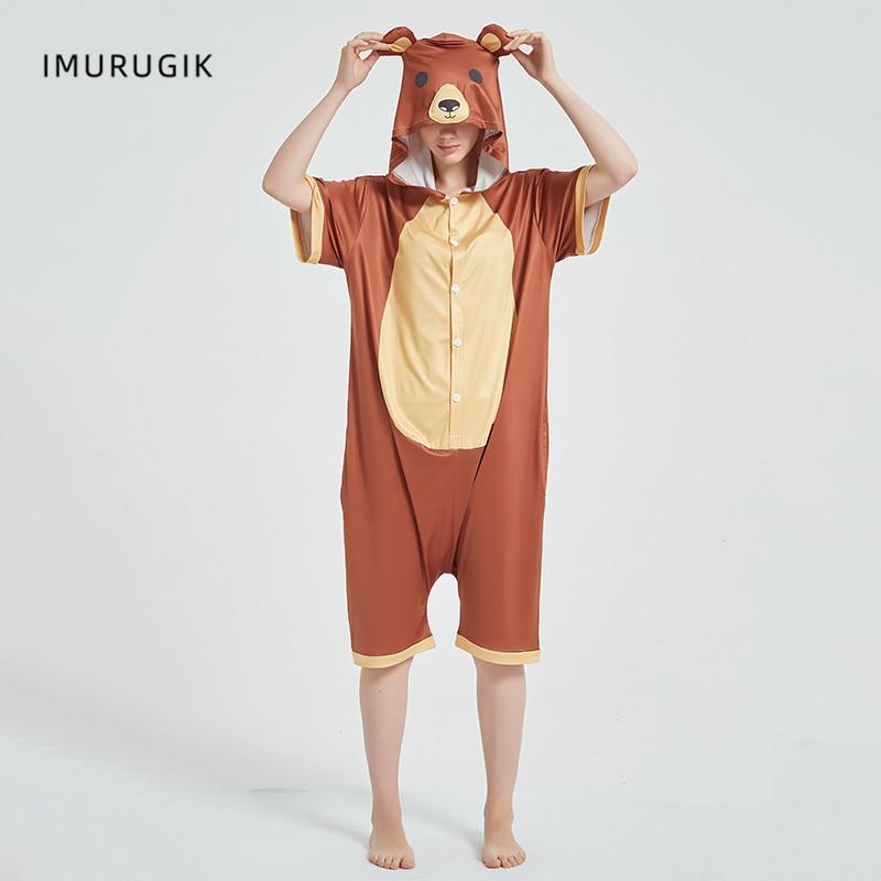 Cosplay Costumes Kigurumis Onesie Jumpsuits Bear Adult Costume Animal Home wear Pajama Funny Cute Oneises Halloween Carnival 1