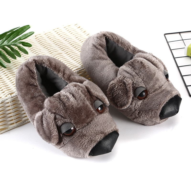 Cute Dog Kigurumis 3D Slippers Cartoon Animal Shoes Autumn Winter New Style Plush Slipper Adult Couple Home Party Indoor Wea 1
