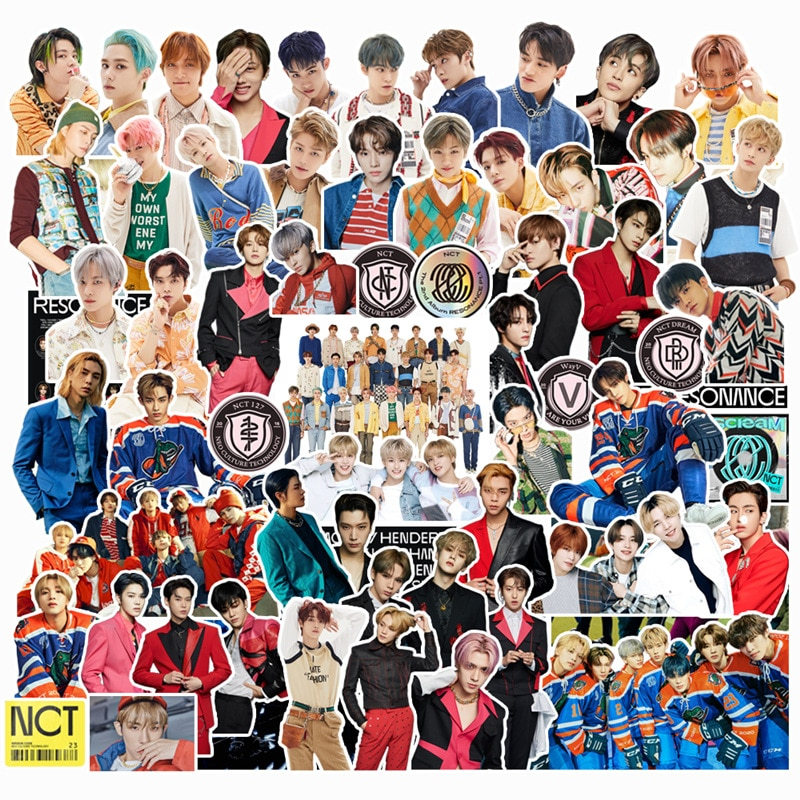 Kpop stray kids stickers TWICE TXT RED VELVET NCT 2020 127 TWICE Character Sticker For Luggage Laptop Notebook Mobile DIY 4