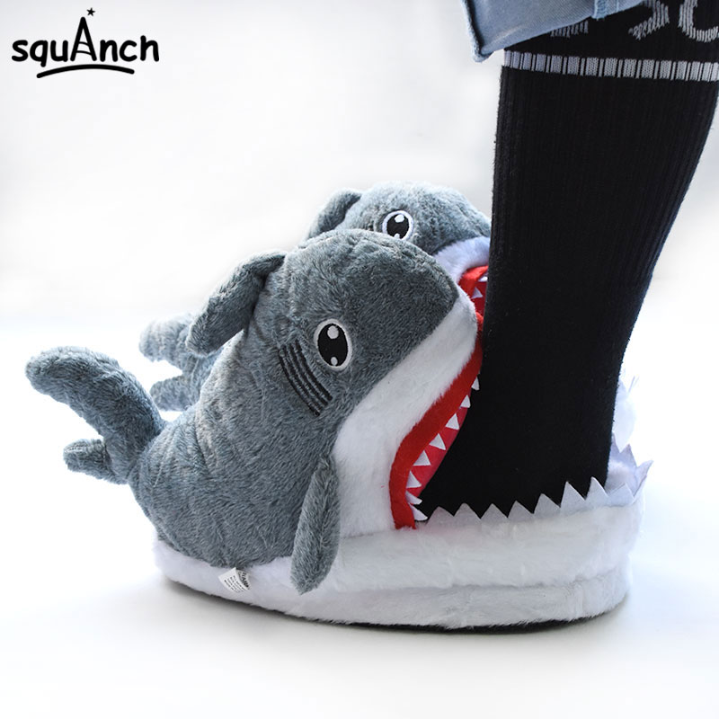 Shark Slippers Funny Cute Winter Animal Shoes Adult Unisex Couple Women Men Party Fashion Sneakers Carnival Holidays Kigurumis 1