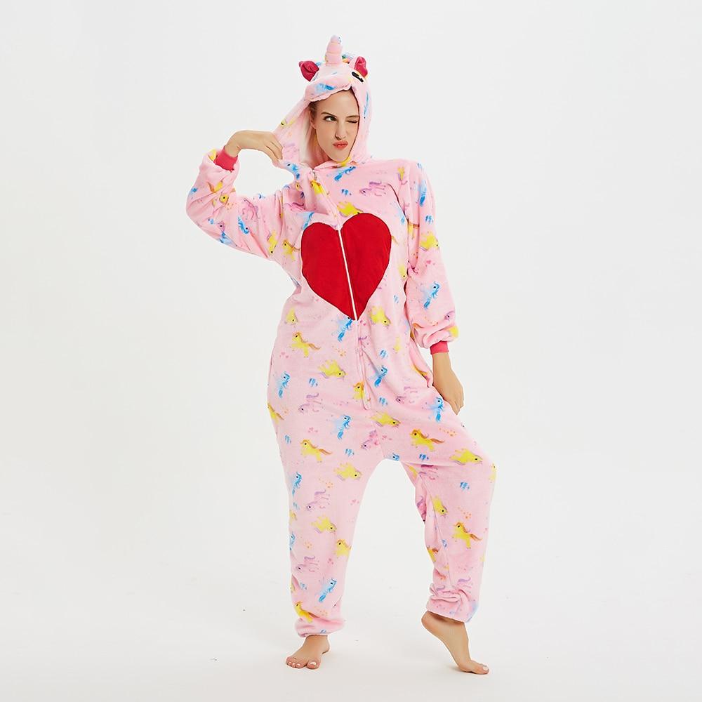 Animal Kigurumis Onesies For Adult Love Unicorn Sleepwear Onesie Women Homewear Cosplay  Jumpsuit Party Costume Clothing 1