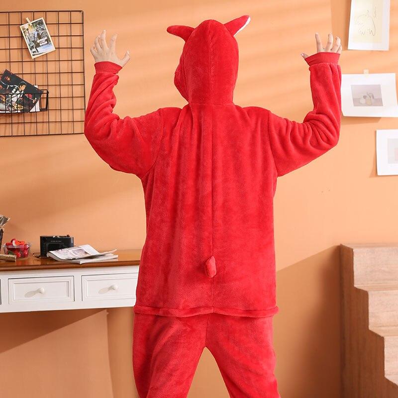 Women FunnyOnesies Shiba Inu Kigurumis Red Dog Pajama Couple Sleep Wear Animal Akita Jumpsuit  Adult Girls Party Overalls Outfit 2