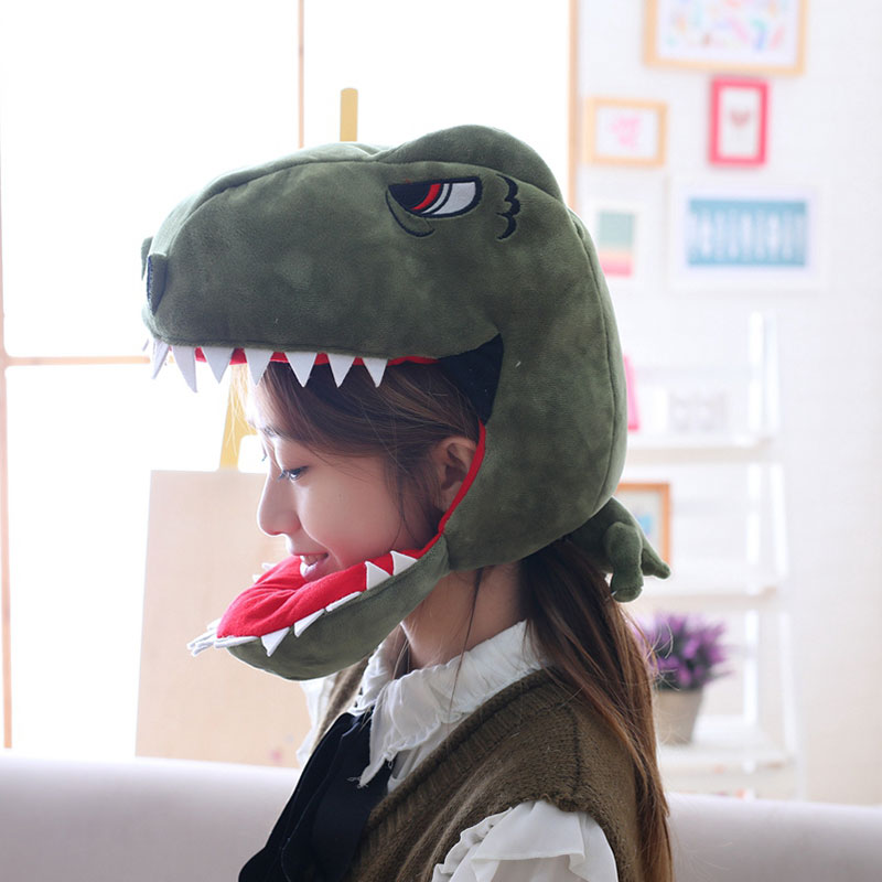 Dinosaur Hat Funny Cool Style Cartoon Anime Headwear Animal Cosplay Party Prop Unisex Green / Pink / Yellow 1