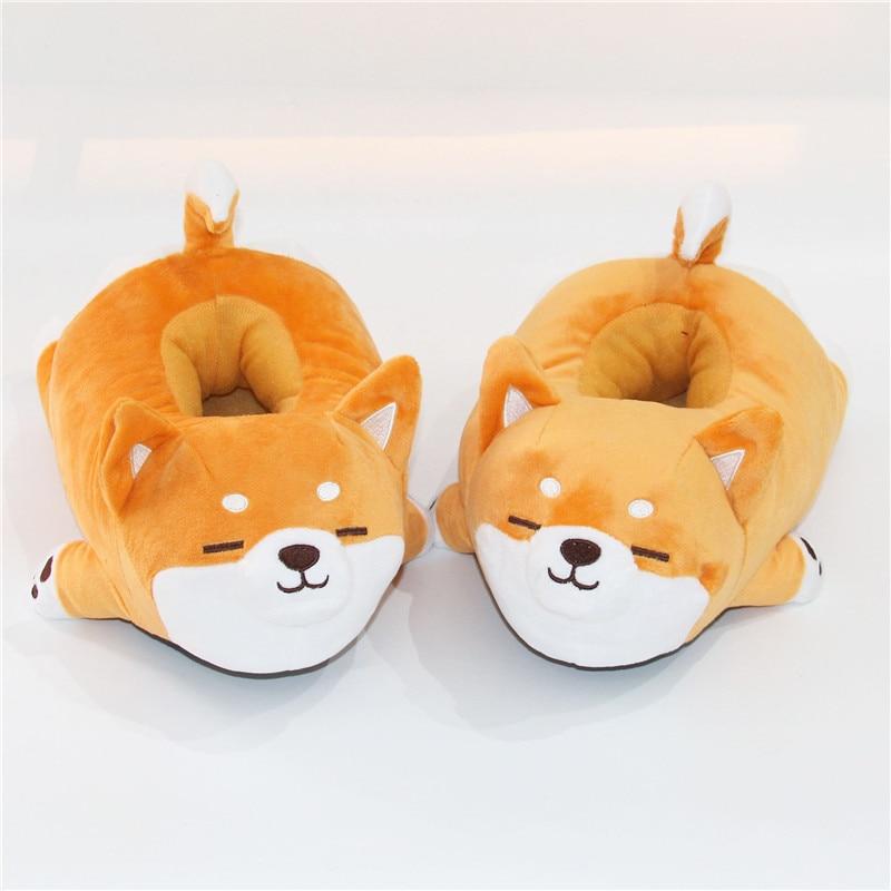 Winter Warm Cotton Slippers Women Men Anime Goku Cute Kigurumis HomeShoes Soft Anti-slip Plush Adult Fur Slipper 1