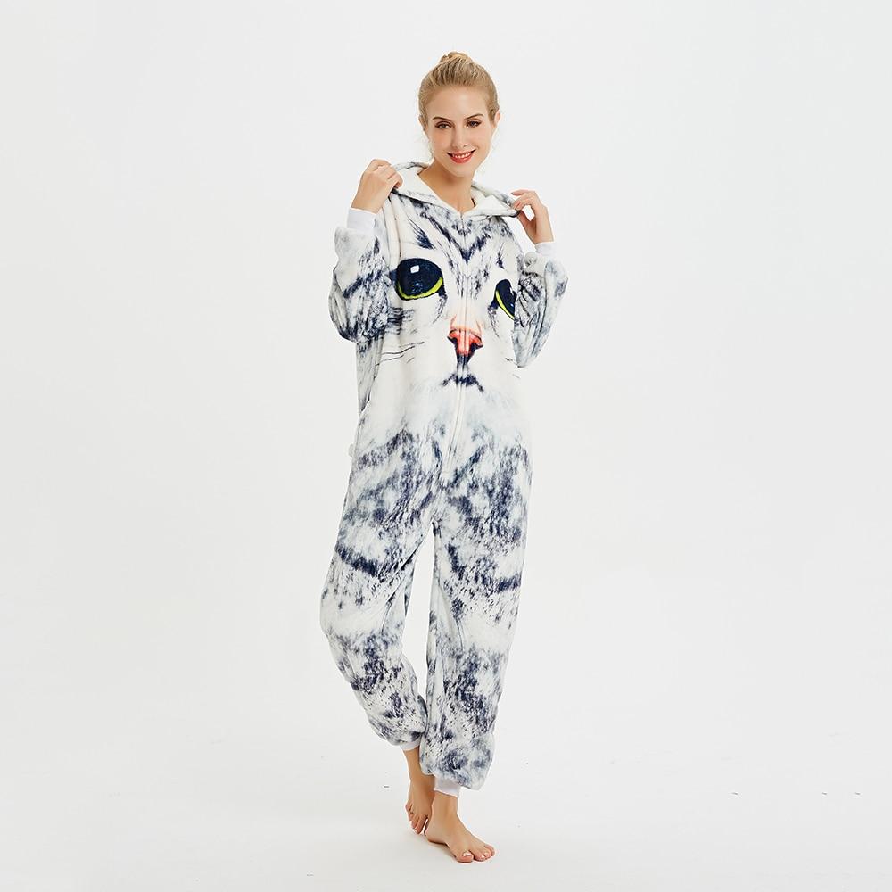kigurumis 3D Cat Printing Onesie women Pajama Adult Homewear Funny Festival Sleepwear Cosplay Party Jumpsuit Unisex Costume 1
