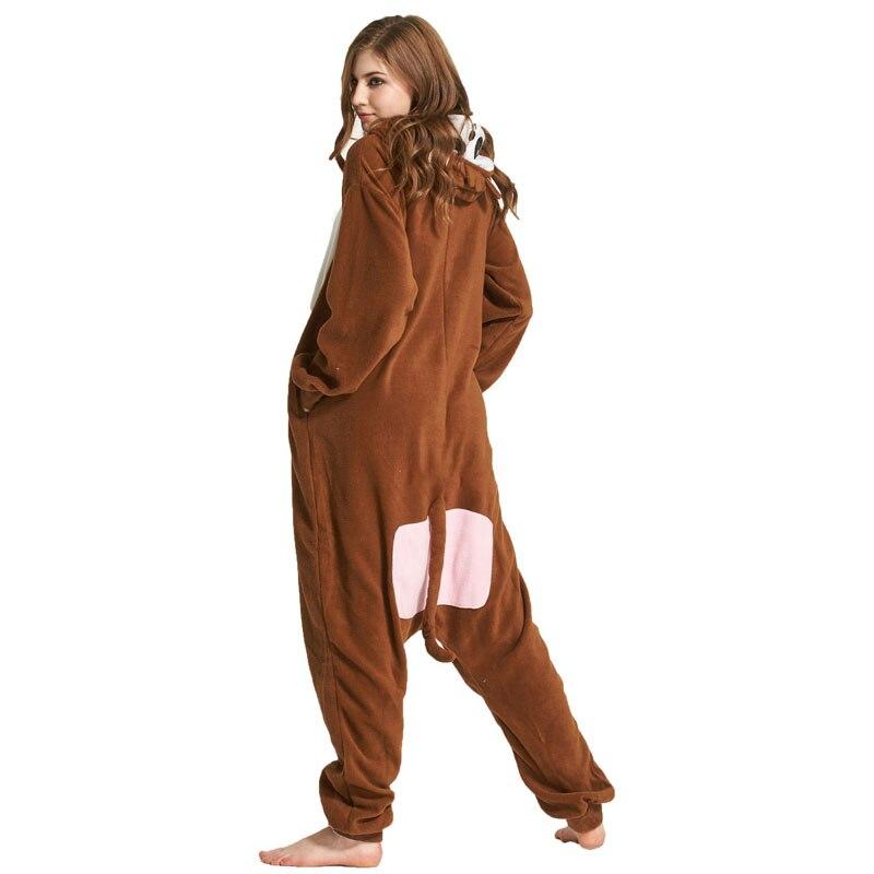 Monkey Women Onesie Pajama Adult kigurumis Sleepwear Funny Festival Long sleeve warm Cosplay Party Jumpsuit Unisex Costume 5