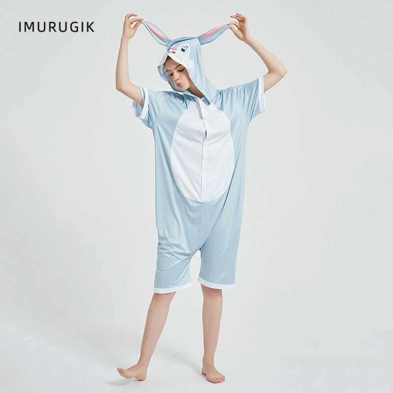 Cosplay Costumes Kigurumis Onesie Jumpsuits Rabbit Adult Costume Animal Home wear Pajama Funny Cute Oneises Halloween Carnival 3