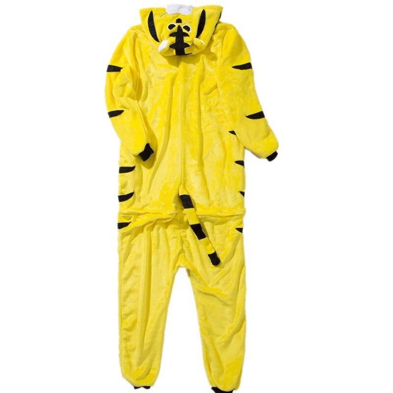 Kigurumis Onesies Sleepwear for Adult Cartoon Funny Tiger Pajama Suit Women Onesie Button Winter Homewear Jumpsuit Onepiece 4