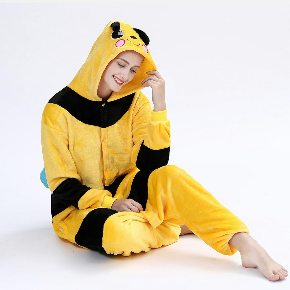 Kigurumis Women Onesie Sleepwear Pajama Animal Bee Adult Onesies Festival Party Outfit Overall Pyjamas Home wear Clothes 4