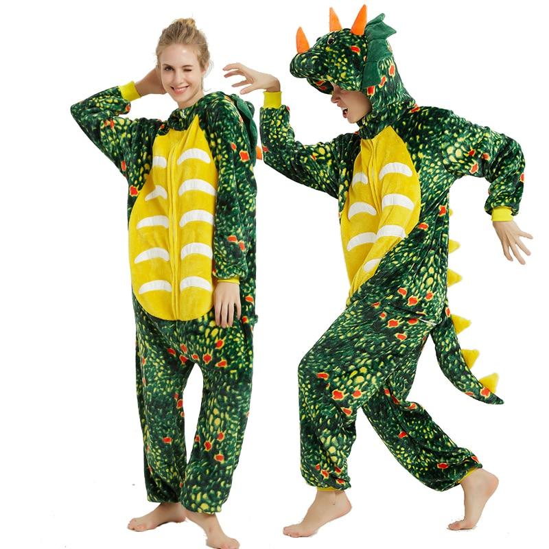 Triceratops Animal Kigurumis Pajama Suit Dragon Sleepwear Homewear Adult Funny Flannel Soft Pijamas One Piece Party Costume 1