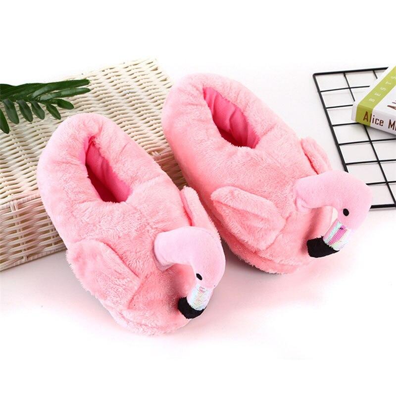 Cartoon Animal Slippers Adult Shoes Kigurumis Kawaii Indoor Home Shoes Cute Flamingos Cosplay Household Cotton Shoes Women 3