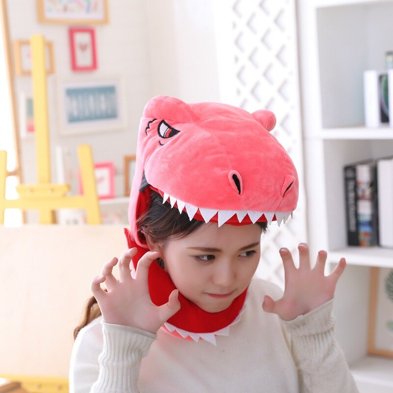 Dinosaur Hat Funny Cool Style Cartoon Anime Headwear Animal Cosplay Party Prop Unisex Green / Pink / Yellow 2