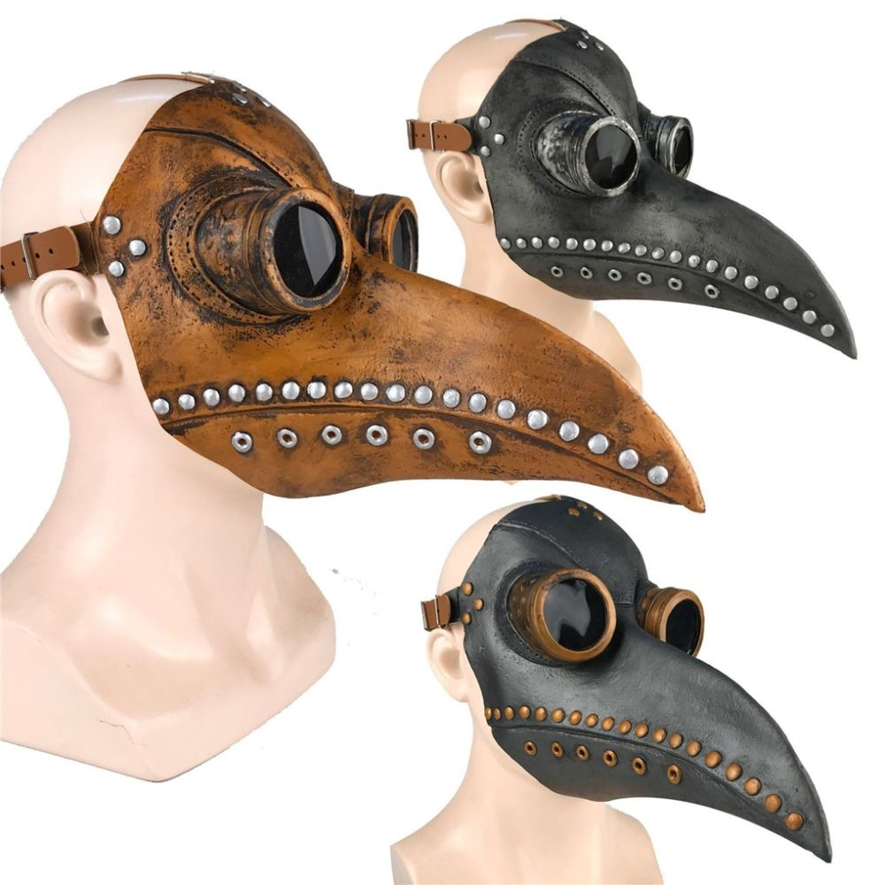 Funny Medieval Steampunk Plague Doctor Bird Mask Latex Punk Cosplay Masks Beak Adult Halloween Event Cosplay Props RB 2