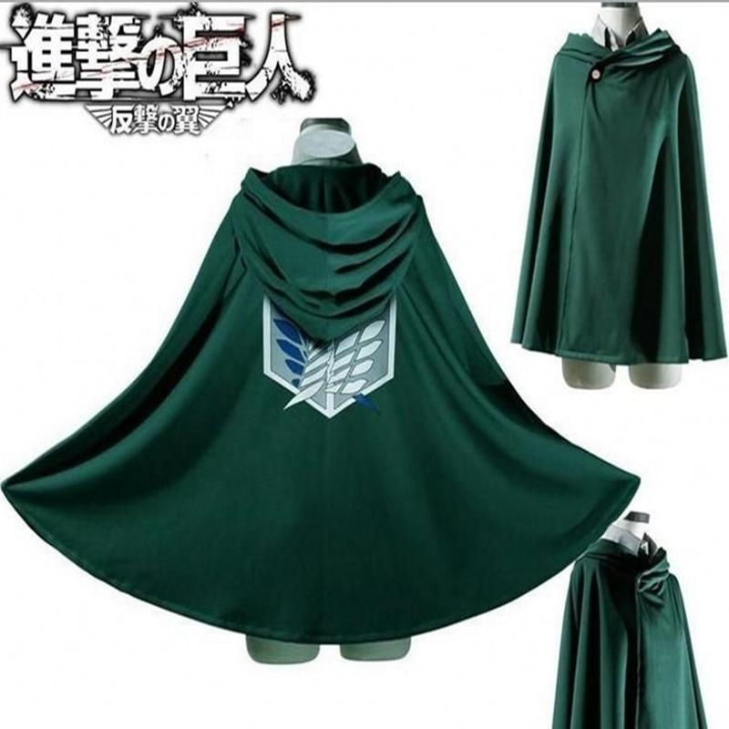 Japanese Hoodie Attack on Titan Cloak Shingeki no Kyojin Scouting Legion Cosplay Costume anime cosplay green Cape mens clothes 2