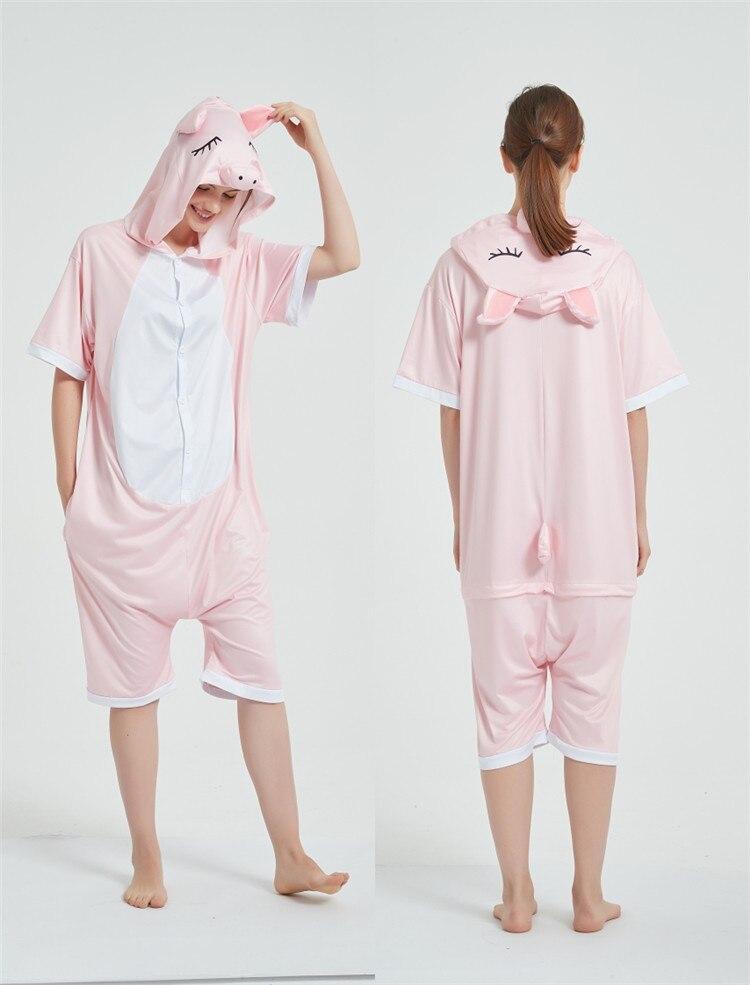 Halloween Costumes Kigurumis Onesie Jumpsuits Pink Pig cosplay Adult Costume Animal Home wear Pajama Funny Cute OneisesCarnival 7