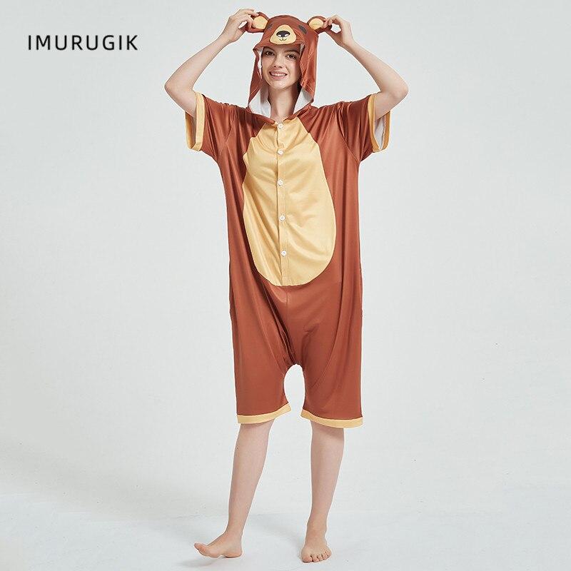 Cosplay Costumes Kigurumis Onesie Jumpsuits Bear Adult Costume Animal Home wear Pajama Funny Cute Oneises Halloween Carnival 5