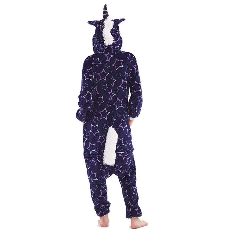 Unicorn Women Pajama Onesie kigurumis Galaxy Pegasus Unisex Adult Sleepwear Flannel Homewear Onepiece Pajama Suit Party Costume 3