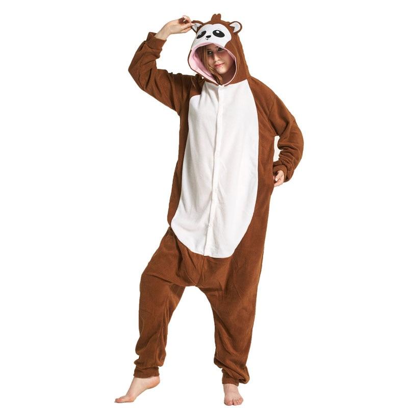 Monkey Women Onesie Pajama Adult kigurumis Sleepwear Funny Festival Long sleeve warm Cosplay Party Jumpsuit Unisex Costume 2