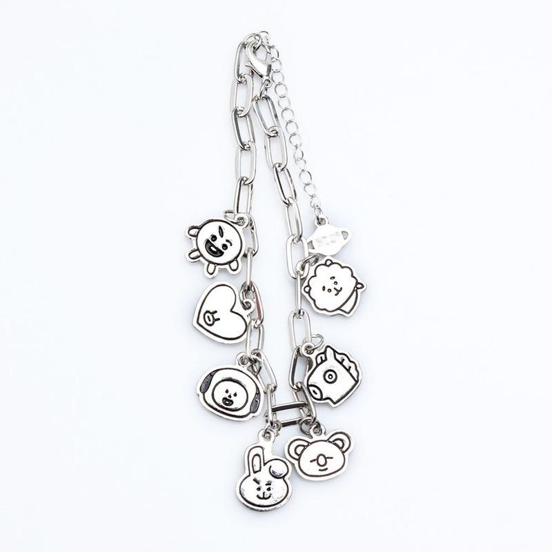 Charm Bracelets Jewelry Stainless Steel Animal Accessories Korean Bracelets for Women Couple Bracelet Kpop Gift for Girl Friends 3