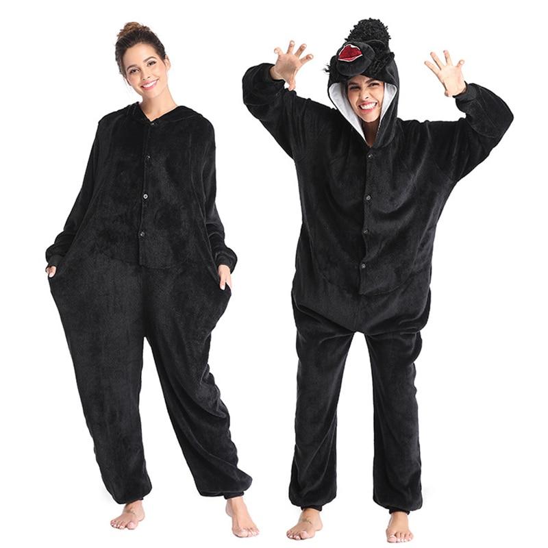 2020 Super king kong Kigurumis Women Pajamas Onesies Homewear Flannel One Piece Sleepwear Pajama Suit Fancy Overall Costume 1