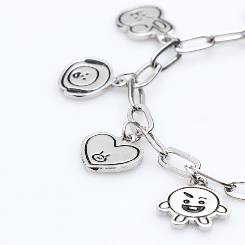 Charm Bracelets Jewelry Stainless Steel Animal Accessories Korean Bracelets for Women Couple Bracelet Kpop Gift for Girl Friends 4