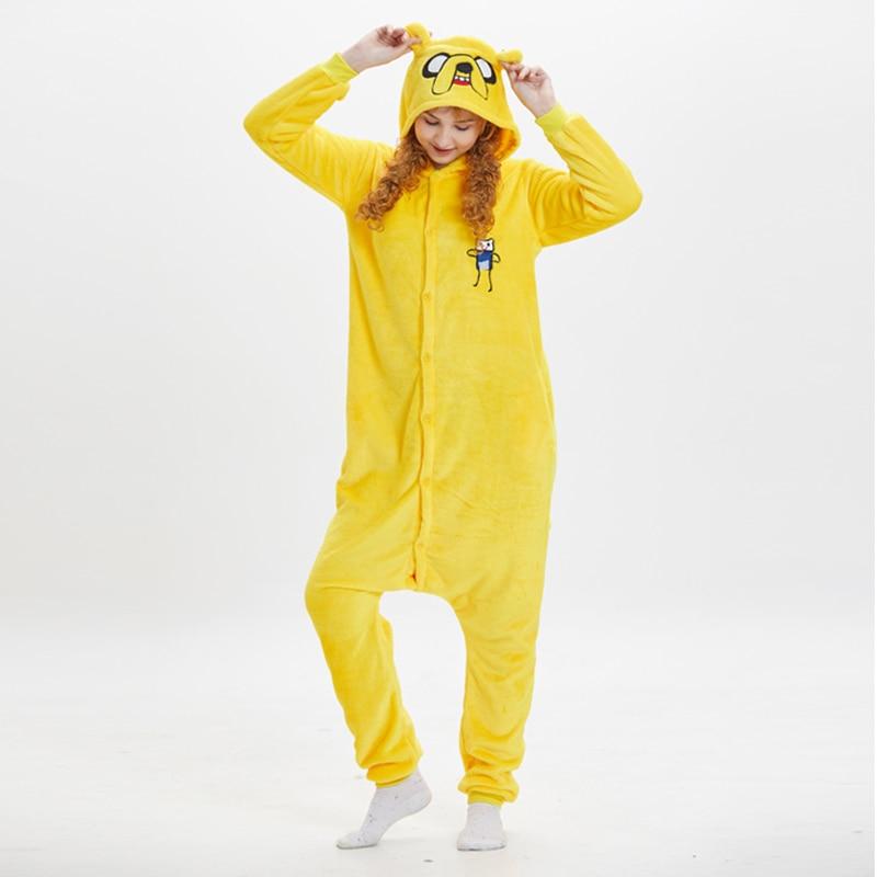 Jack Dog Kigurumis Women Pajama Suit Onesie Animal Homewear Adult Flannel Soft  Winter Pijamas Party Sleepwear Costume 1