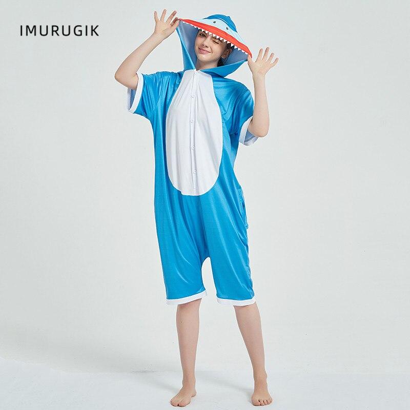 Cosplay Costumes Kigurumis Onesie Jumpsuits Shark Adult Costume Animal Home wear Pajama Funny Cute Oneises Halloween Carnival 2