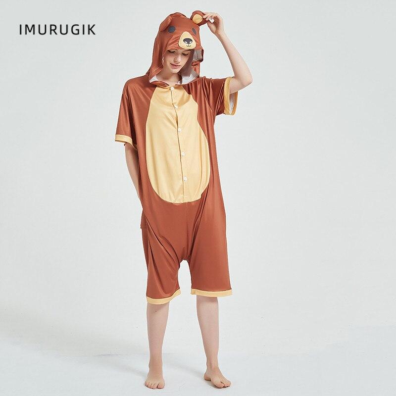 Cosplay Costumes Kigurumis Onesie Jumpsuits Bear Adult Costume Animal Home wear Pajama Funny Cute Oneises Halloween Carnival 3
