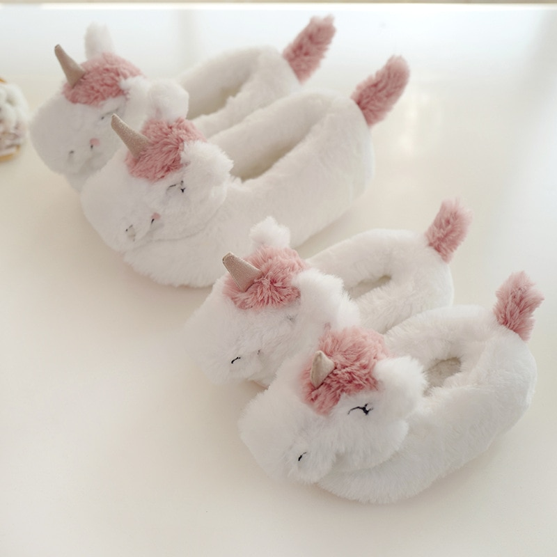 Unicorn Adult Kids Slipper Plush Household Warm Shoes Indoor Slipper Cartoon Cosplay Slippers women Animal slipper Eye mask 1