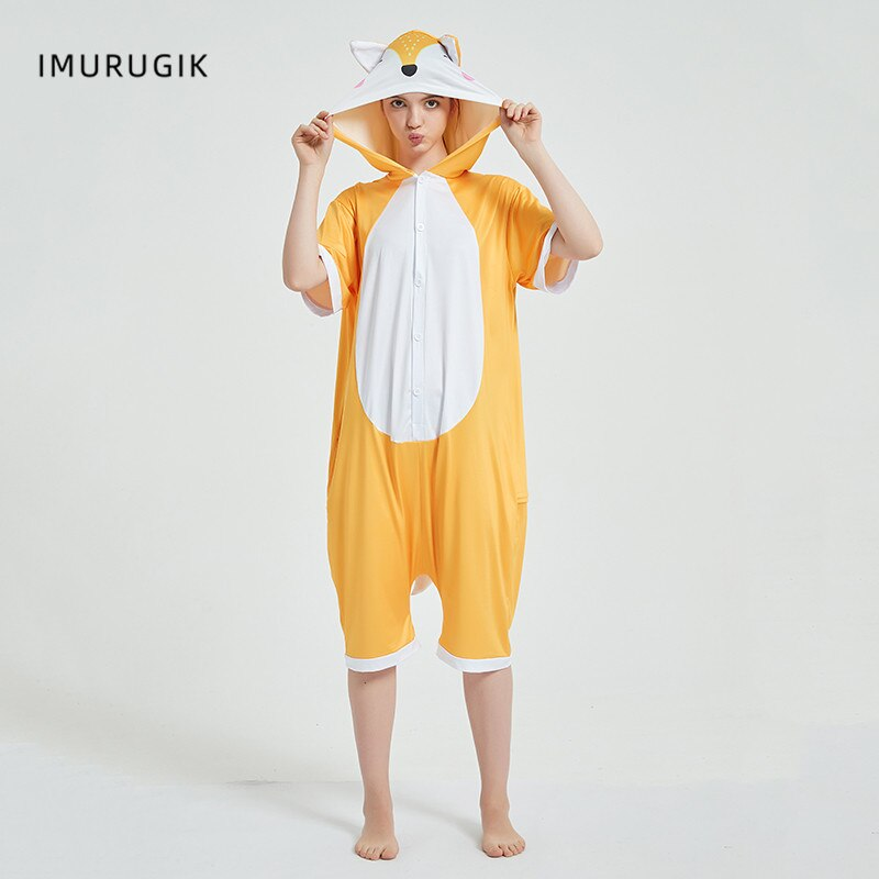 Halloween Costumes Kigurumis Onesie Jumpsuits Fox Cosplay Adult Costume Animal Home wear Pajama Funny Cute OneisesCarnival 4