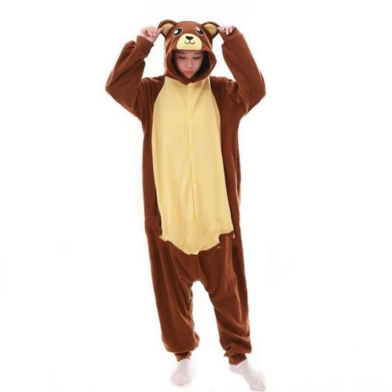 Animal Women Pajama Halloween Kigurumis Night SleepwearCartoon Bear Funny Home wear Pyjamas Onesie For Adult 1