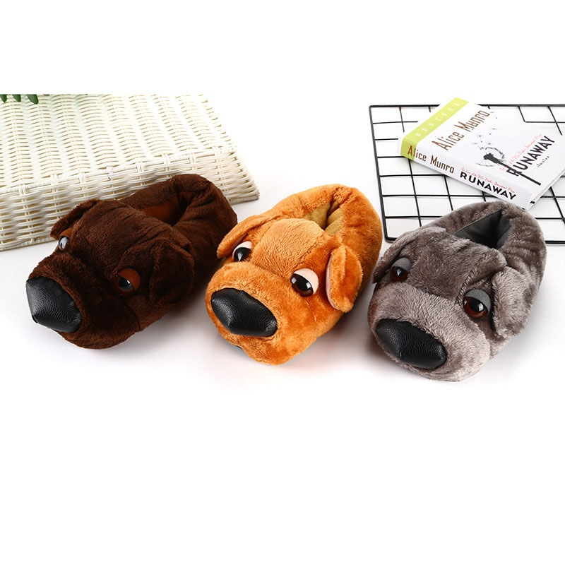 Cartoon Animal Slippers Adult Shoes Kigurumis Cute Dog Women Shoes Winter Plush Indoor Home Shoes Cosplay Household WarmSupplies 1